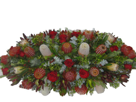 Rose and Native Flower Casket Cover