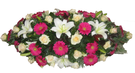 Casket Cover Mixed Flowers