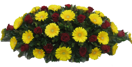 Casket Cover in Red & Yellow