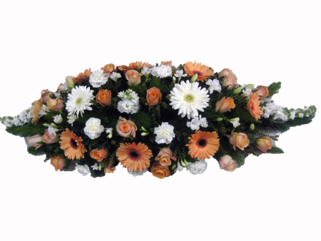 Casket Cover Orange & White