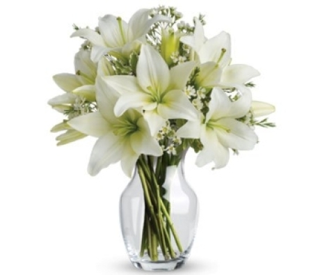White Lilies w/ Vase