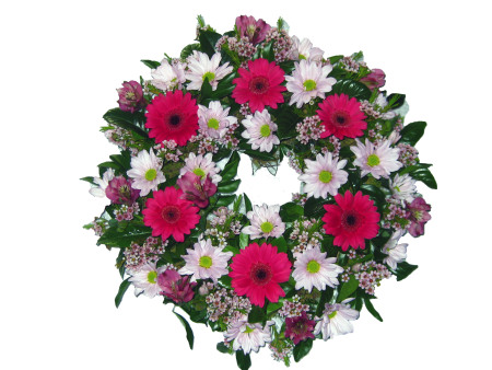 Wreath in Pinks and Whites