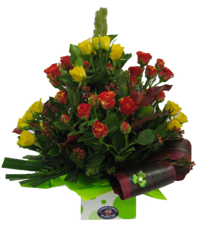 Arrangement of Mixed Coloured Spray Roses