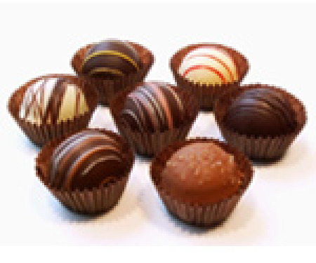 Chocolates will vary depending on availability