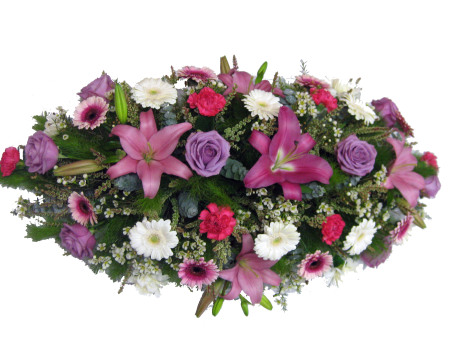 Casket Cover In Pinks