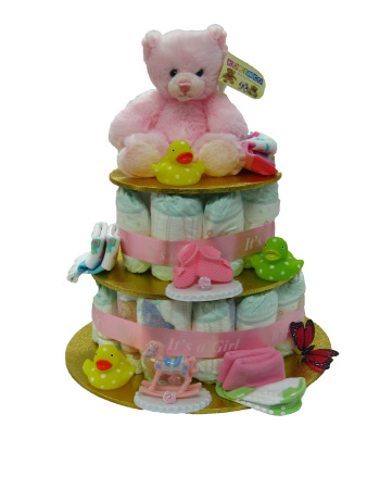 Nappy Cake For New Born Baby Girl