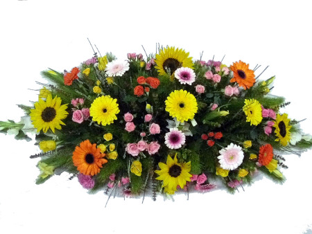 Bright Coloured Casket Cover