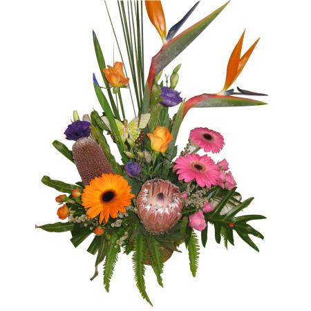 Tropicals/Wildflowers & Mixed Flower arrangement