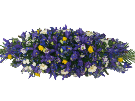 Blue and Purple Casket Cover
